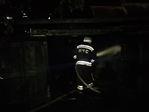 Ночью в Лиде горела хозпостройка
