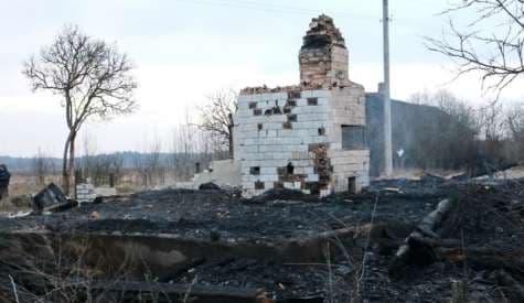 В Лидском районе сгорел дом. Хозяин погиб