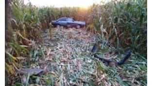 В Дятловском районе бесправник на машине опрокинулся и погиб