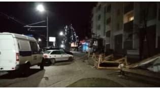Строительный забор упал на женщину в Гродно