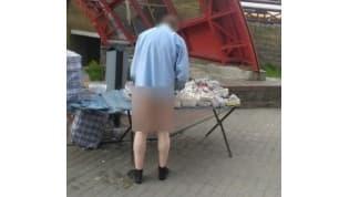 В Гродно мужчина продавал очки… без штанов