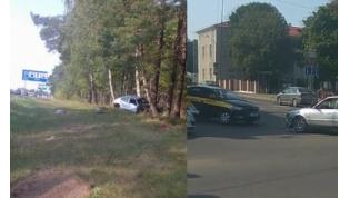 Не уступил дорогу, улетела в кювет. Два ДТП произошли вчера в Лиде (видео)