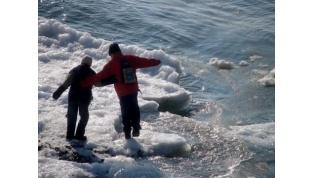 Осторожно!Лёд очень коварен
