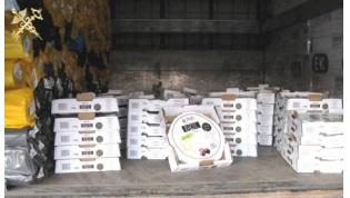 Гродненские таможенники обнаружили 100 кг сыра среди арматуры и труб